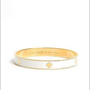 Kate Spade Ivory and Gold Bangle